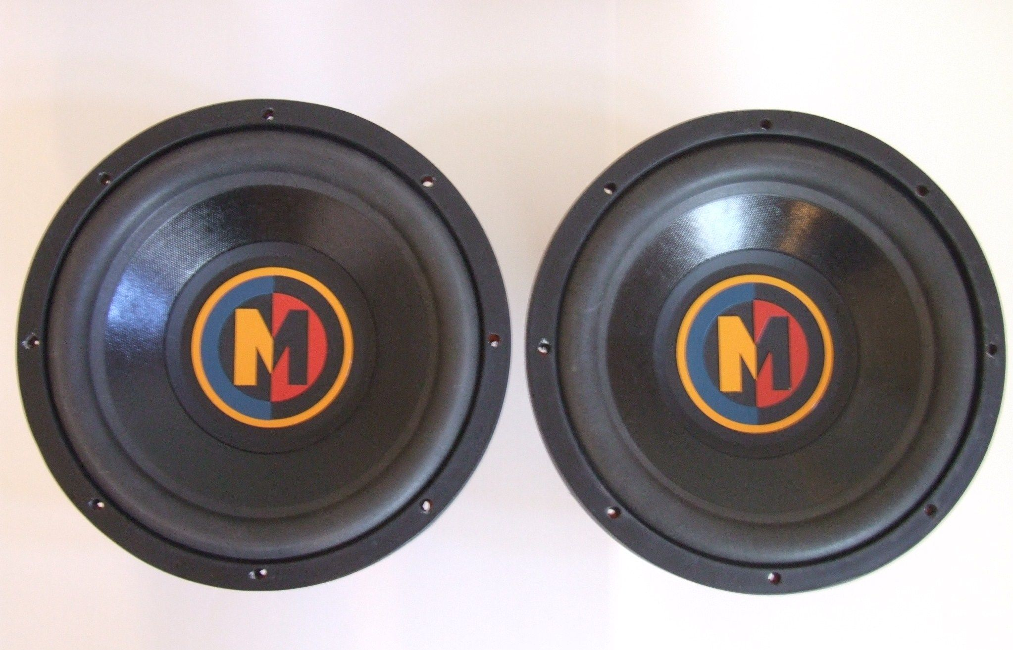 is one pair of used memphis car audio 12 subs part m3124d