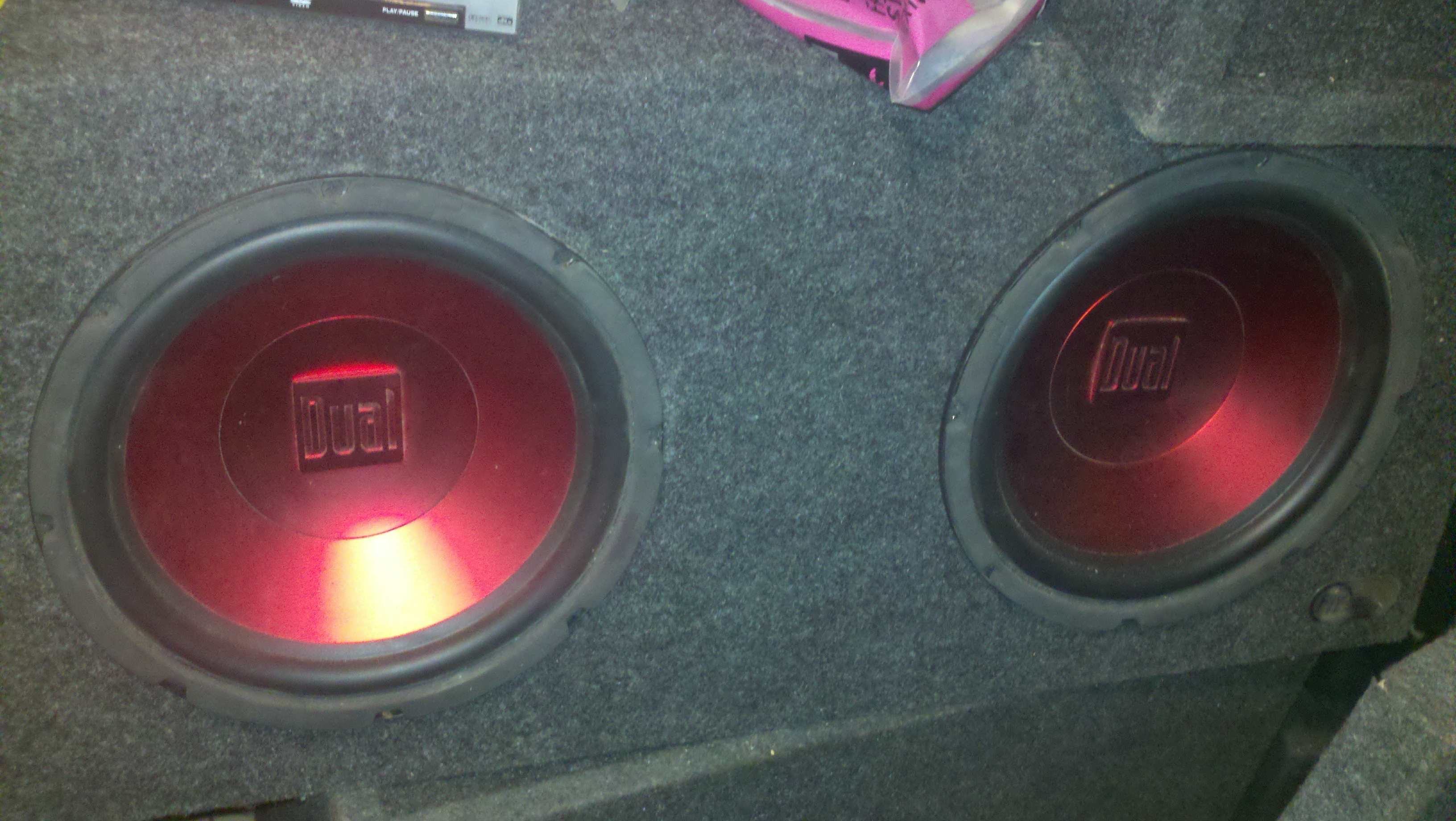 Dual subwoofers inch