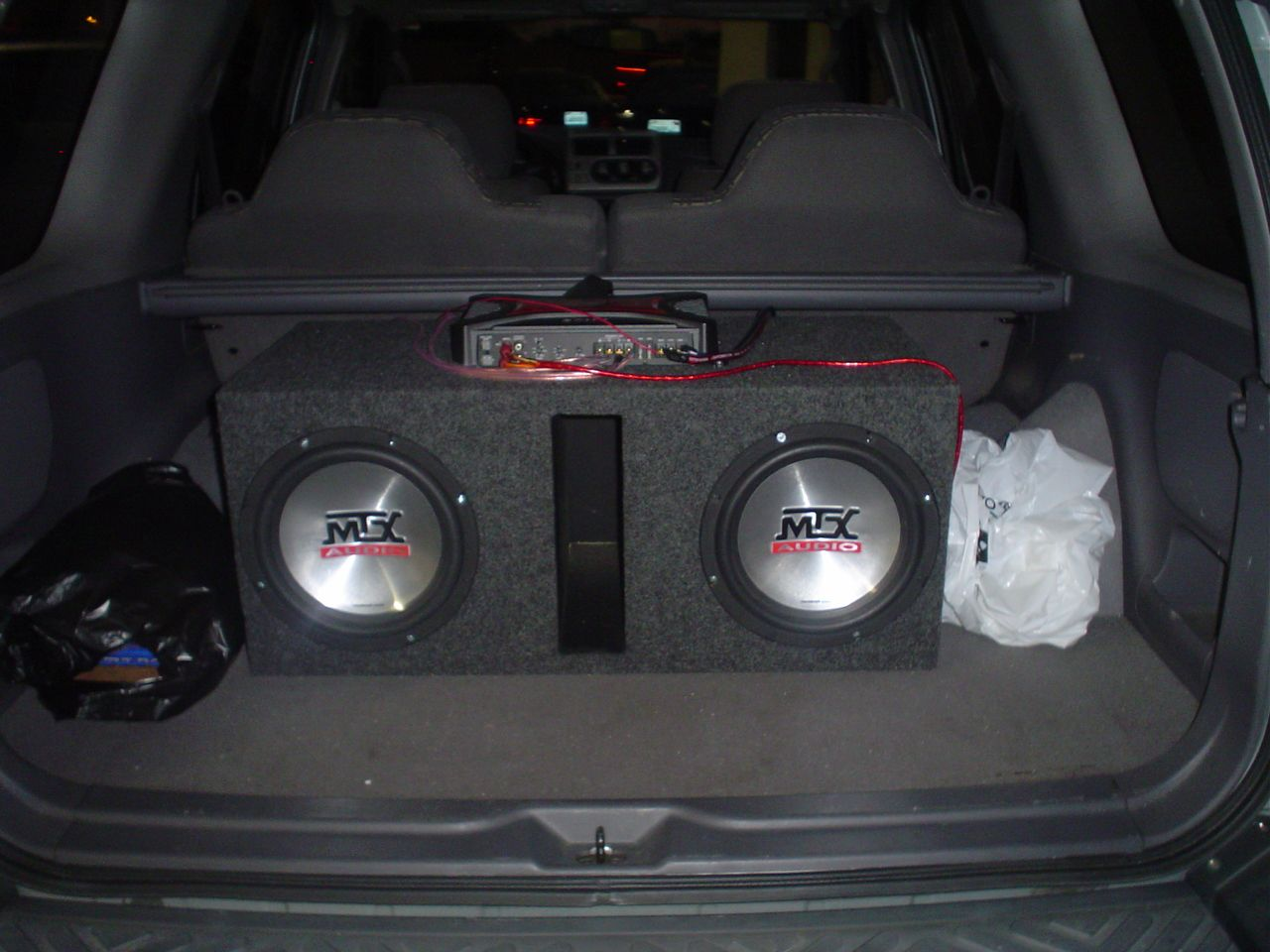 2 10 subs with amp and ported box for sale mtx audio subwoofers publicscrutiny Images