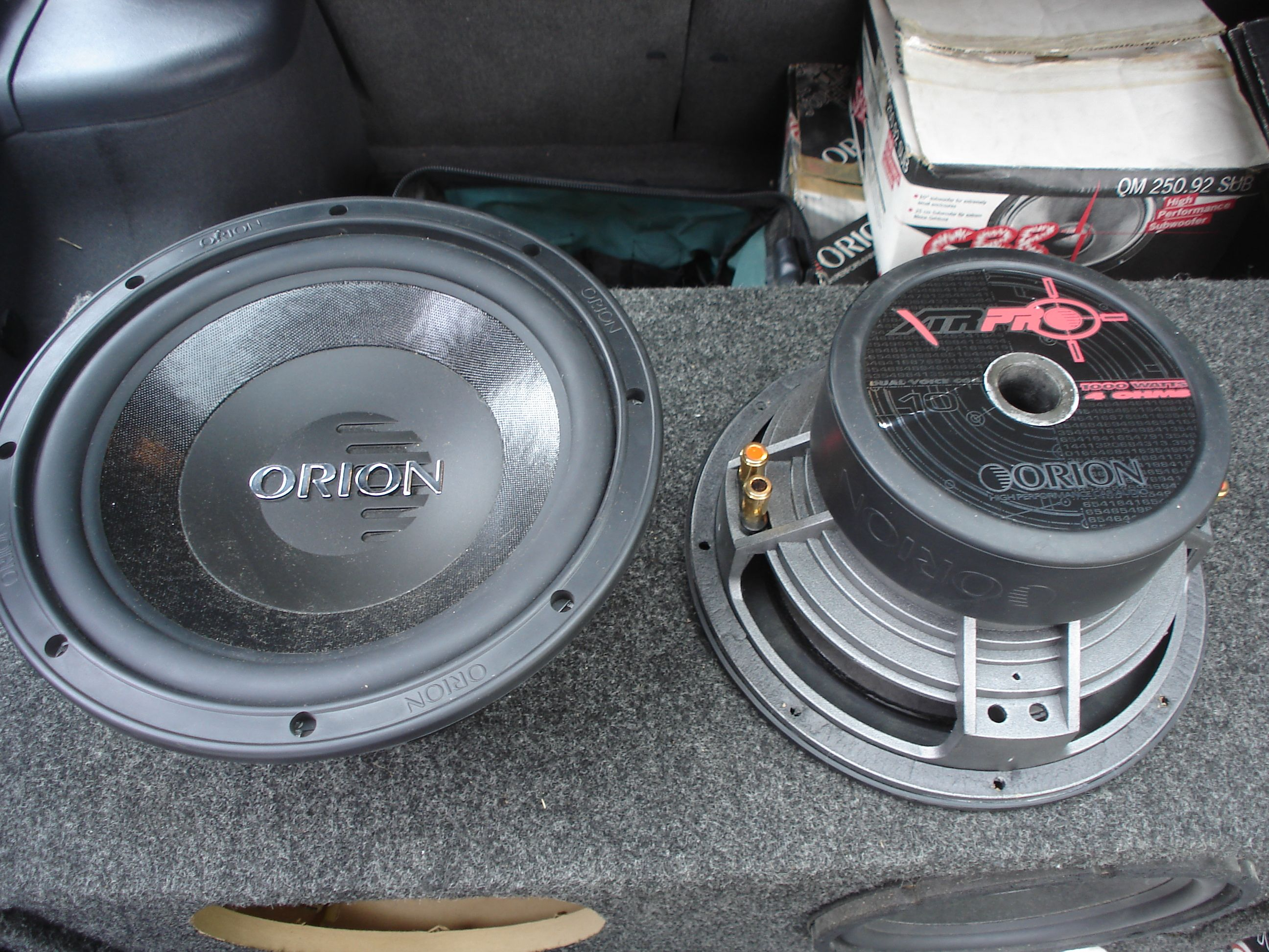 fs  shool orion xtr pro sony xplod rockford subs  boxes
