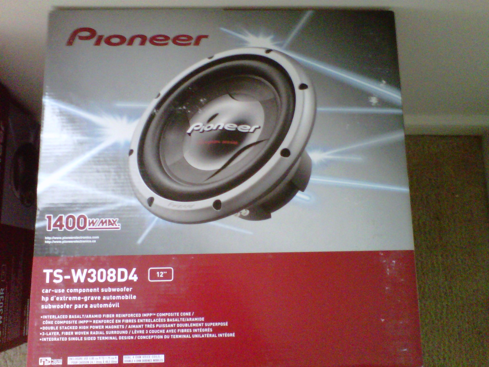 Pioneer TSW310D12-Inch Champion Series Subwoofer with Dual