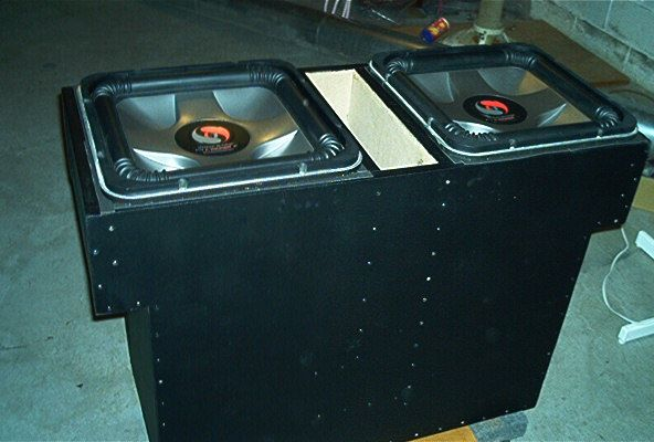 2 kicker l7 solobaric 15quot subwoofers in huge custom built