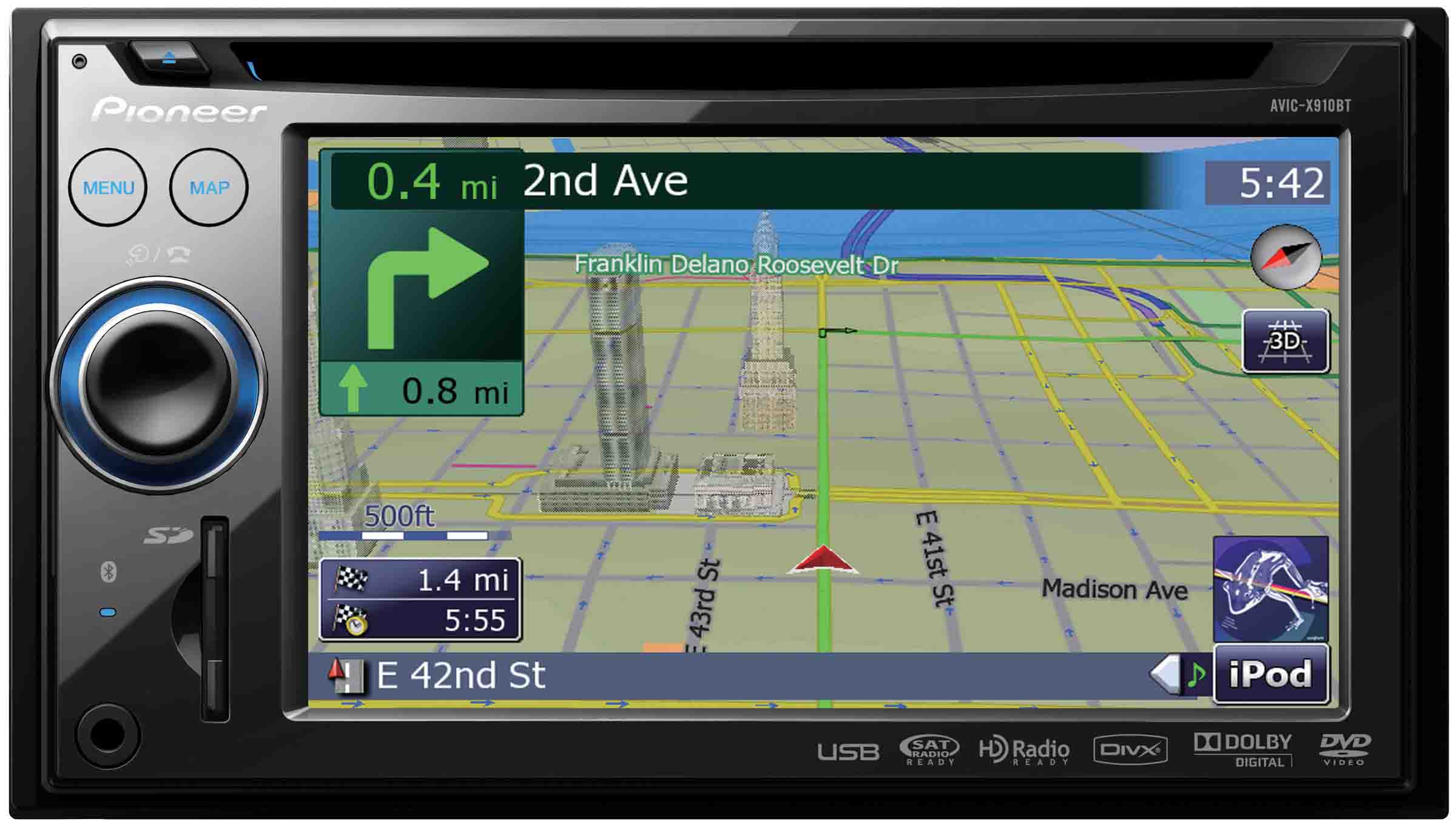Pioneer Gps System With Back Up Camera And Xm Tuner