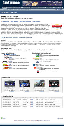 car audio dealer store profiles
